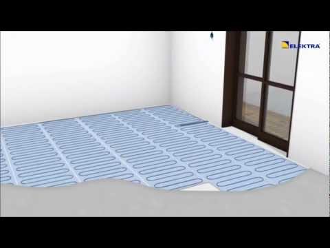 Ogrzewanie podłogowe - maty grzejne ELEKTRA - instalacja