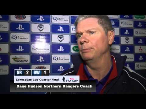 INTERVIEW: Lakoseljac Cup QF (Westfield FFA Cup) - Northern Rangers Coach Dane Hudson