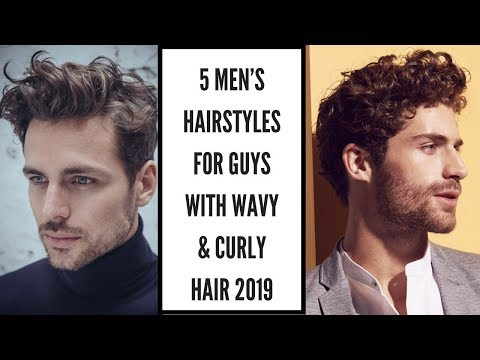 Mens hairstyles - 5 Men's Hairstyles For Guys With Wavy and Curly Hair  Men's Hair Style 2019.