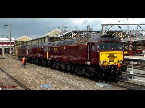 Crewe Railway Station - 25th July 2013. Includes 0Z53, 5Z43, 5Z42. x3 57's + Steam Convoy
