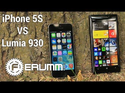 Nokia Lumia 930 vs iPhone 5S честное сравнение. iPhone 5S vs Lumia 930 битва флагманов от FERUMM.COM (видео)