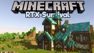 This Is My Starter House • Minecraft RTX Survival S2 [Part 3]