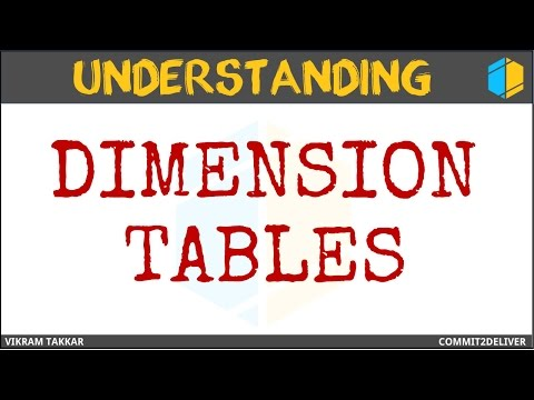 4 - Dimesion Tables in Datawarehouse