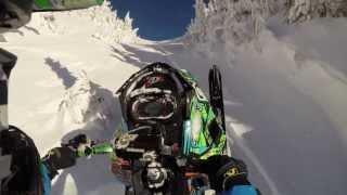 9. 2014 Skidoo Summit xm climbing a nice chute