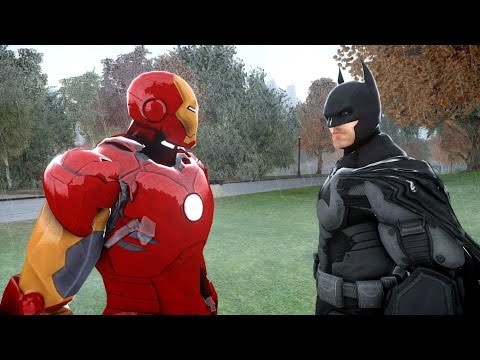 iron man - The battle between Batman and Iron Man takes place in Grand Theft Auto IV Script by JulioNIB: http://gtaxscripting.blogspot.com/ All mods are available at ht...