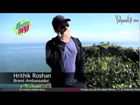 hrithik - Watch the Making of Hrithik's Mountain Dew Advertisement by http://www.bollywoodlife.com Hrithik Roshan will be getting all adventurous in the new advertisem...