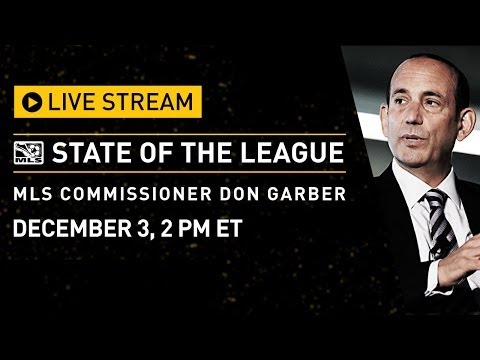 'The - Commissioner Garber's 2013 MLS State of the League will stream live on this page, on Tuesday, December 3 at 2pm ET, from Google's NYC office. He will then pa...