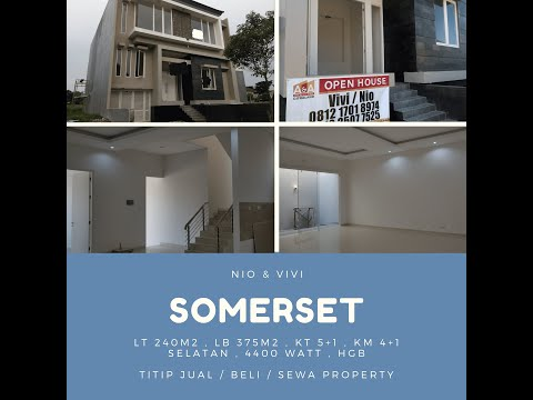Review Rumah Citraland Cluster Somerset konsep split level model minimalis