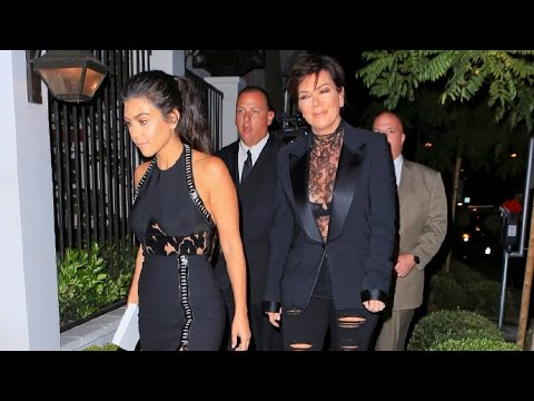 Kourtney Kardashian And Kris Jenner Asked About Kim's Recovery, Wear Matching Black At Private Event