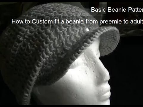 How to Crochet a Brim/Peak onto a Beanie