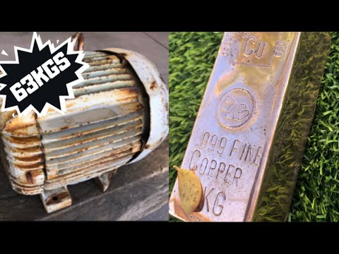63 Kilo Motor Dilucuti untuk Copper Melt - Huge Copper Bar - Molten Metal
