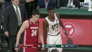 Eron Harris Kisses Center Court