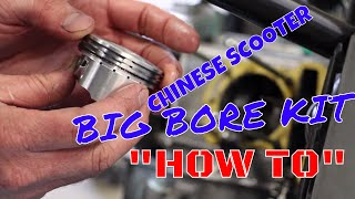 10. How to install a big bore kit on a chinese scooter qmb139  gy6 Kymco Agility taotao rocketa puma