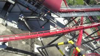 Ride in the right left seat of X-Flight at Six Flags Great America in Gurnee, Illinois (near Chicago).Watch in high definition.