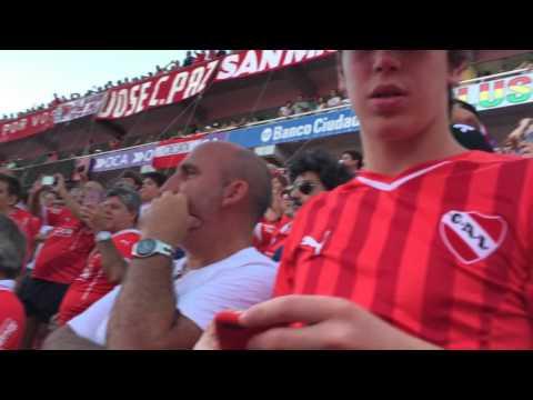 Recibimiento Independiente vs Racing - La Barra del Rojo - Independiente