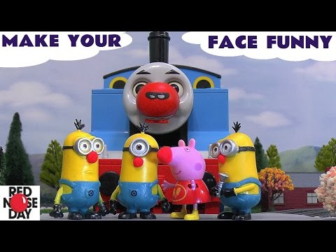 Thomas and Friends Peppa Pig Play Doh Funny Minions Toys Red Nose Day Make Your Face Funny