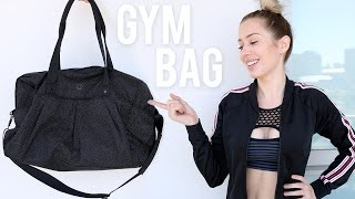 » Hello lovely internet strangers! Today's video is diving into my GYM BAG! What I pack, suggest and treasure :) Hope you find this helpful!ITEMS MENTIONED:Lululemon Gym Bag (Mine is the 'All Day Heat Duffle *Reflective*' but I don't think it's available anymore) SIMILAR ONE HERE: http://go.magik.ly/ml/4zya/Tangle Teaser- http://go.magik.ly/ml/4zyd/Kiss My Face Deodorant - http://go.magik.ly/ml/52n7/Article on why using antiperspirant is bad for you- https://www.dherbs.com/articles/why-conventional-deodorants-and-antiperspirants-stink/R&B Leave In Hair conditioner LUSH- http://bit.ly/2r58CYePurple Conditioner- http://bit.ly/2r6XE5mBiotherm Skin Fitness Emulsion - www.biotherm.caDiscount code: 'KARISSAVIP' to save 20% (I do not make any commission on your sale)Saje Yoga Matt Antibacterial Spray- http://bit.ly/2ppjaVrBeats Solo 3 Wireless- http://go.magik.ly/ml/4zyf/FRED Water - http://go.magik.ly/ml/4zyj/Bare Minerals Ingrid Nilsen CollabVitascrub Acne Treatment Salicylic Acid 2% - http://bit.ly/2iEWlsZAlpha H Instant Facial- http://bit.ly/20vD25DLUSH Lip ScrubZO Ossential Skin Brightener - https://zoskinhealth.comZO Daily Power Defence Moisturiser - https://zoskinhealth.comEstee Lauder Advanced Night Repair Eye Serum - http://go.magik.ly/ml/52mn/ZO Brand TE Pads - https://zoskinhealth.comZO Sulphur Mask - https://zoskinhealth.comBobby PinsHair TiesDuck Bill ClampThe Power of Habit- Charles Duhigg - http://go.magik.ly/ml/52mq/Sarah's Day Youtube Channel- https://www.youtube.com/user/sarahsdayvideos Kiehls Lipchap- http://go.magik.ly/ml/52mr/Eyelash Curler - http://go.magik.ly/ml/52ms/Always PadsOxygenetix Oxygenating Foundation- http://amzn.to/2pVaMcGUrban Decay - Naked Skin One and Done - http://go.magik.ly/ml/52mv/Bite Beauty Agave Lip Treatment - http://go.magik.ly/ml/52mw/Benefit They're Real Tinted Primer - http://go.magik.ly/ml/52mx/Benefit Gimmie Brow - Benefit Gimmie BrowSaje Pain Release Roller Ball - http://bit.ly/2fpfEVcBelt Bag (Forever 21) (Nike)Slinkii Athletic Resistance Bands- https://slinkii.com/Pia Muehlenbeck Youtube- https://www.youtube.com/channel/UCveCs-lwyA0Y43c7tDV3qvwCompass Card✖ SUBSCRIBE so you don't miss my uploads - http://bit.ly/karissapukas ✖✖ No new vides here? Check- www.youtube.com/creepingonkarissa ✖ Watch my last video- 'My 'Go To' Make Up for ACNE FLARE UPS ' - https://www.youtube.com/watch?v=MrCm5e-3N9U    ✖▬▬▬▬▬▬▬▬▬▬▬▬▬ ☼ ▬▬▬▬▬▬▬▬▬▬▬▬ Come Creep me on... MY VLOG CHANNEL: www.youtube.com/creepingonkarissaSnapchat: karissapukasInstagram: http://instagram.com/karissapukasTwitter: https://twitter.com/#!/KARISSAPUKASFacebook: http://www.facebook.com/karissapukas  Pinterest: http://www.pinterest.com/karissapukas▬▬▬▬▬▬▬▬▬▬▬▬▬ ☼ ▬▬▬▬▬▬▬▬▬▬▬▬BUSINESS Related: «  Please contact me on  karissa@infagency.com»→ This video has a sponsor (Biotherm) - Thank you for your support!. (Thoughts/opinions are as always, my own (how boring to take someone else's ;) xx