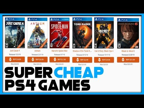 AWESOME PS4 GAME SALE - BIG PS4 GAMES SUPER CHEAP!