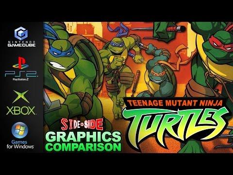 Teenage Mutant Ninja Turtles 2003   Graphics Comparison   ( Gamecube , PS2 , Xbox , PC )