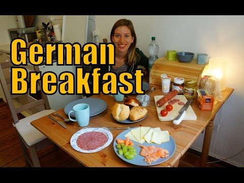 German Breakfast in our apartment in Berlin