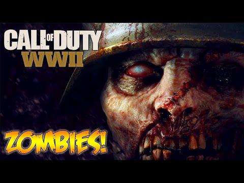 CALL OF DUTY WW2 - ZOMBIES CONFIRMED + GAMEPLAY TRAILER LIVE REVEAL REACTION! (COD WW2) (видео)