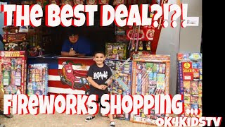 Video We got the best 4th of July  deal? Fireworks shopping at Nisqualy Reservation  ok4kidstv video 156 MP3, 3GP, MP4, WEBM, AVI, FLV Maret 2019