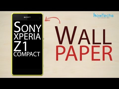 how to set a wallpaper on sony xperia v
