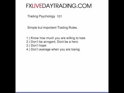Rules Of Top Traders part 2 – Successful Traders – Live Forex Day Trading Room