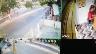 En vídeo| Intento de robo en punto de recaudo en la avenida Las Torres