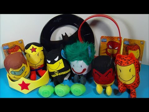 2013 SONIC TOTS DC JUSTICE LEAGUE series 2 SET OF 12 KID'S MEAL TOY'S VIDEO REVIEW