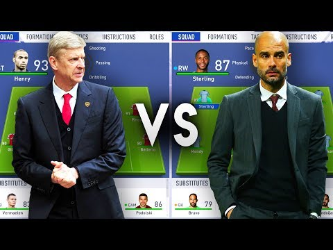 Arsene Wenger's Arsenal VS Pep Guardiola's Manchester City - FIFA 19 Experiment