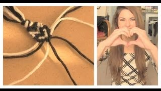 DIY: Heart Stitch Friendship Bracelet - YouTube