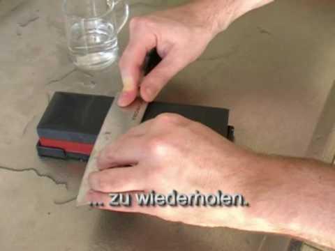 Messer schärfen mit japanischen Wassersteinen