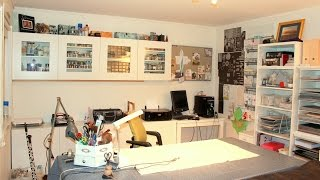 This is a tour of a my craft studio / scrapbooking studio.