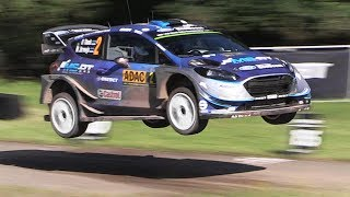 This video is from the second day of the 2017 ADAC WRC Rallye Deutschland and it features some nice jumps, U-Turns and...