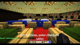 Minecraft Casino With 6 Different Levels With Stripclub, Blackjack And Lottery
