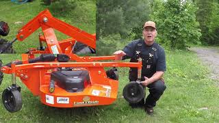 2. #45 Kubota B2601 Compact Tractor FDR1660 Finish Mower Review