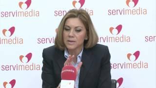 """Vídeo Cospedal garantiza la """"titularidad pública"""" de los hospitales aunque la gestión sea privada"""