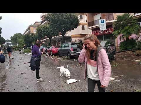 Terracina: le immagini del disastro pochi minuti dopo