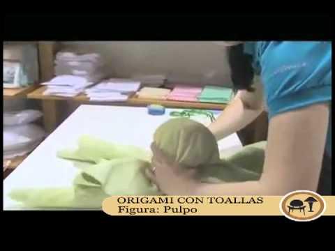 Origami con toallas: Pulpo