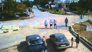 Перекрёсток в Щёлкино, 18.08.2014 - time-lapse с камеры 2