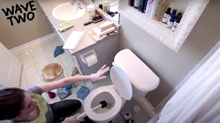 How to Clean A Bathroom: The Best Bathroom Cleaning Tutorial! (Clean My Space)