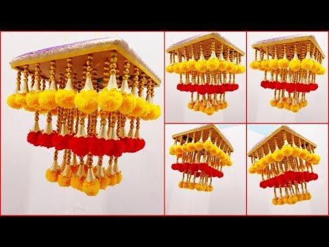 wool se jhumar banane ka tarika | woolen jhumar new design | diy woolen jhumar wool chandelier