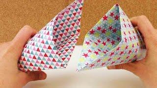Zaubertrick mit Tüte - Papiertüte falten Anleitung