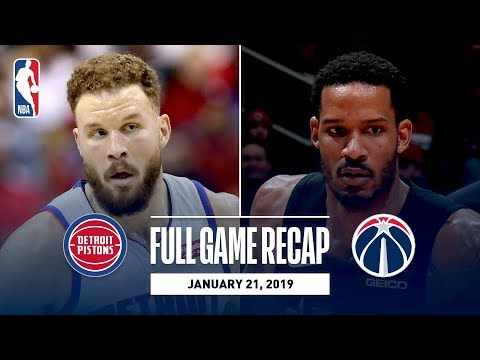 Video: Full Game Recap: Pistons vs Wizards | Ariza & Porter Jr. Lead Washington
