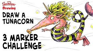 Finally a three marker challenge video - I've been asked to do it often. In this video I draw a Tunacorn - or my idea of one and colour it in with pink, purple and green - not the most friendly colours!I said I'd let one person who filled in my questionnaire the chance to choose a video. Mikkel SH was the lucky winner and Mikkel asked me to do a Three Marker Challenge, to draw a fantasy creature in pink purple and green.Well this video is the result - Hope you like it.Follow me on Patreon and you will also get a pdf with the pencil sketch, so you can practice drawing over the top of it or onto another sheet with a window or light box. Also the finished coloured version and the ink version, so you can try your own hand at colouring in with three marker pens.Markers are quick and fun, but watercolour is still my favourite.With award winning illustrator, Shoo RaynerYou can support my videos on Patreon ➡️ http://bit.ly/ShooPatreonPageSubscribe for lots more drawing :) ➡️ http://bit.ly/Sub2ShooEveryone asks about the tools I use when I'm out using my sketchbook. here's a video to show you what and how I use them. https://youtu.be/QJwjV1FKdygThe Pentel Aquash Brush is here in the Uk http://bit.ly/PentelAquabrushUKand here in the US   http://bit.ly/PentelAquashBrushUSARotring Tikky Graphic in the UK here http://bit.ly/TikkyGraphicUKin the USA http://bit.ly/TikkyGraphicUSThe Cotman sketching watercolour set is here in the UK http://amzn.to/1gNpZ8sand in the US here: http://amzn.to/1gaG6qAThe Seawhite of Brighton a5 travel journal is here in the Uk http://bit.ly/SeawhiteJournalUK and here in the USA http://bit.ly/SeawhiteA5JournalUSACopic Markers here in the UK http://bit.ly/CopicCiaoSetUKand in the USA http://bit.ly/CopicCiaoSetUSATwitter http://twitter.com/shooraynerGoogle+ https://plus.google.com/u/0/117947137150973770218Facebook http://www.facebook.com/profile.php?id=750207845Website http://www.shooraynerdrawing.comCopic Markersmusic by http://www.youtube.com/cleffernote