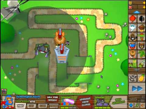 Bloons Tower Defense 5 Monkey God VS Robot Monkey