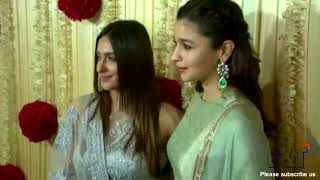 Alia Bhatt Looks Beautiful  at Diwali Celebration Party By Ekta Kapoor - Must Watch