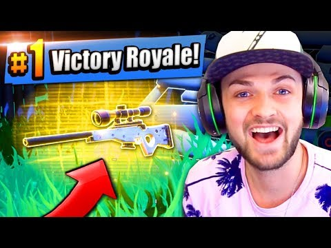 RAREST SNIPER IN THE GAME - #1 FINISH! - Fortnite: Battle Royale