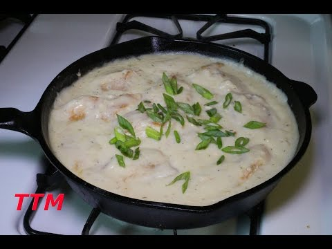 How To Make Homemade Coconut Creamed Chicken Breasts~Easy Chicken Breast Recipe